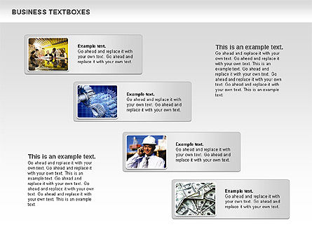 Business Text Boxes, Slide 3, 00920, Text Boxes — PoweredTemplate.com