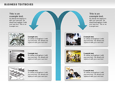 Business Text Boxes, Slide 4, 00920, Text Boxes — PoweredTemplate.com