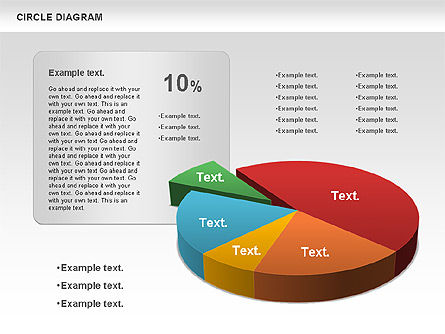 3D Pie Chart (Data Driven), Slide 12, 00922, Pie Charts — PoweredTemplate.com