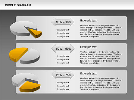 3D Pie Chart (Data Driven), Slide 13, 00922, Pie Charts — PoweredTemplate.com