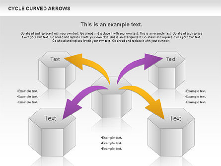 Circle Curved Arrows, 00925, Shapes — PoweredTemplate.com