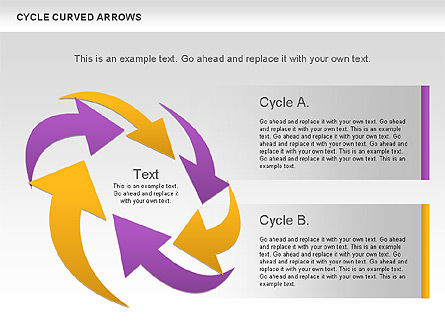Circle Curved Arrows, Slide 2, 00925, Shapes — PoweredTemplate.com