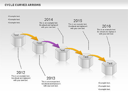 Circle Curved Arrows, Slide 3, 00925, Shapes — PoweredTemplate.com