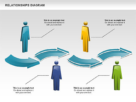 People Relationships, Slide 2, 00926, Process Diagrams — PoweredTemplate.com