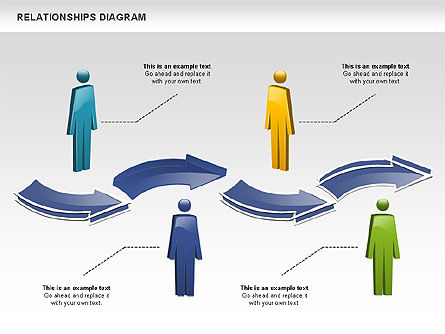 People Relationships, Slide 3, 00926, Process Diagrams — PoweredTemplate.com