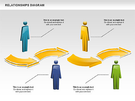 People Relationships, Slide 4, 00926, Process Diagrams — PoweredTemplate.com