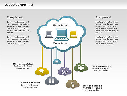 Cloud Computing Diagram, Slide 2, 00930, Business Models — PoweredTemplate.com