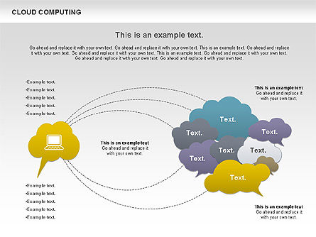 Cloud Computing Diagram, Slide 4, 00930, Business Models — PoweredTemplate.com