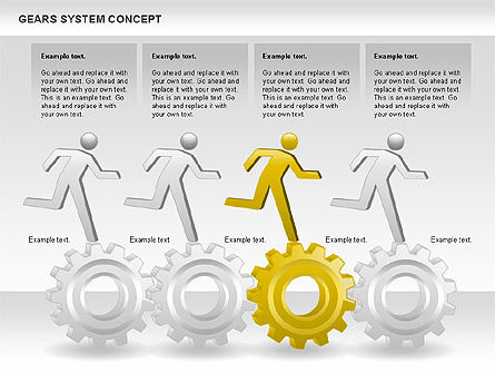 Gears System Concept Diagram, Slide 11, 00940, Stage Diagrams — PoweredTemplate.com