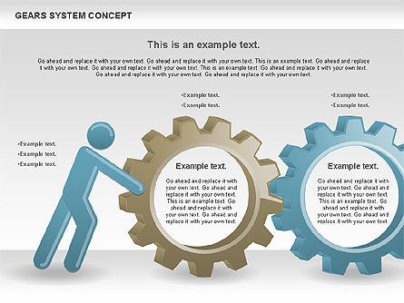 Gears System Concept Diagram, Slide 14, 00940, Stage Diagrams — PoweredTemplate.com