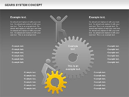 Gears System Concept Diagram, Slide 15, 00940, Stage Diagrams — PoweredTemplate.com