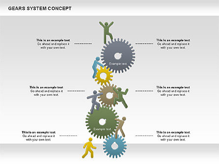 Gears System Concept Diagram, Slide 2, 00940, Stage Diagrams — PoweredTemplate.com