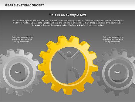 Gears System Concept Diagram, Slide 20, 00940, Stage Diagrams — PoweredTemplate.com