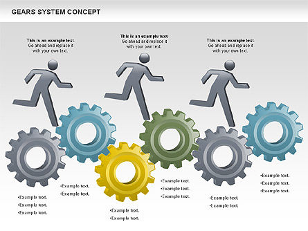 Gears System Concept Diagram, Slide 3, 00940, Stage Diagrams — PoweredTemplate.com