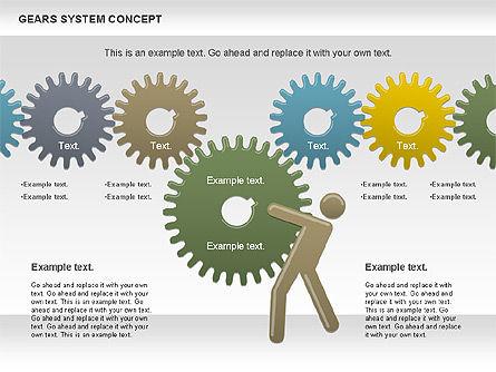 Gears System Concept Diagram, Slide 5, 00940, Stage Diagrams — PoweredTemplate.com
