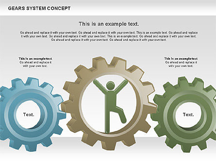 Gears System Concept Diagram, Slide 6, 00940, Stage Diagrams — PoweredTemplate.com