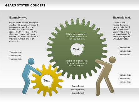 Gears System Concept Diagram, Slide 7, 00940, Stage Diagrams — PoweredTemplate.com