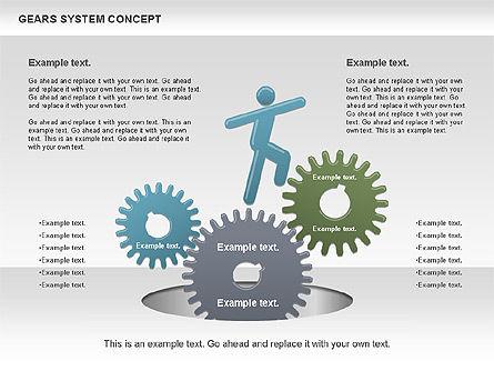 Gears System Concept Diagram, Slide 8, 00940, Stage Diagrams — PoweredTemplate.com