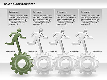 Gears System Concept Diagram, Slide 9, 00940, Stage Diagrams — PoweredTemplate.com