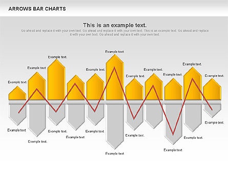 Business Models: Arrows Bar Chart #00941