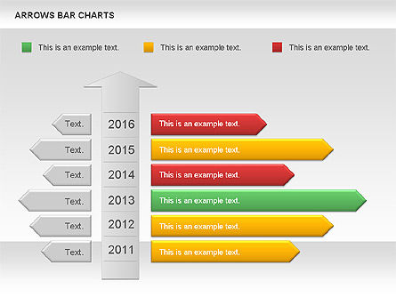 Arrows Bar Chart, Slide 10, 00941, Business Models — PoweredTemplate.com