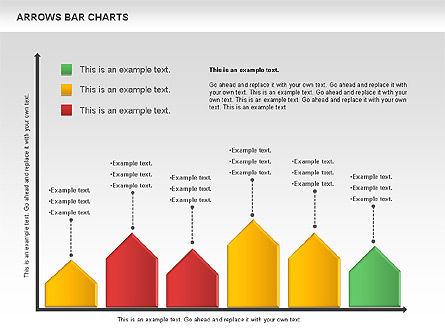 Arrows Bar Chart, Slide 11, 00941, Business Models — PoweredTemplate.com