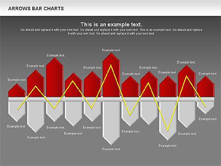 Arrows Bar Chart, Slide 12, 00941, Business Models — PoweredTemplate.com