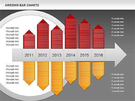 Arrows Bar Chart, Slide 13, 00941, Business Models — PoweredTemplate.com