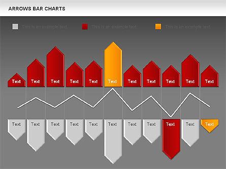 Arrows Bar Chart, Slide 14, 00941, Business Models — PoweredTemplate.com