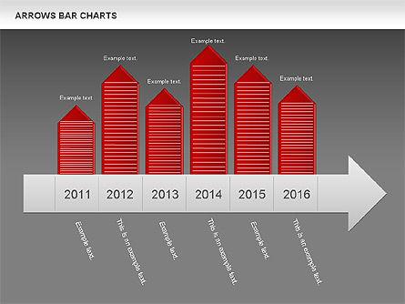 Arrows Bar Chart, Slide 15, 00941, Business Models — PoweredTemplate.com