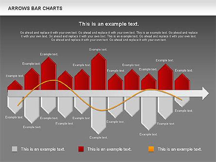 Arrows Bar Chart, Slide 16, 00941, Business Models — PoweredTemplate.com