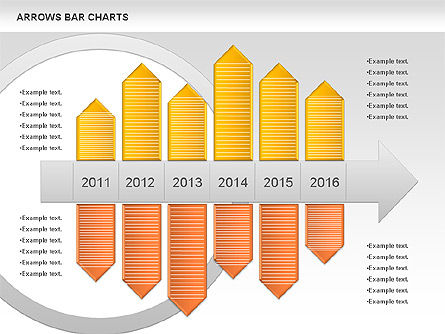Arrows Bar Chart, Slide 2, 00941, Business Models — PoweredTemplate.com