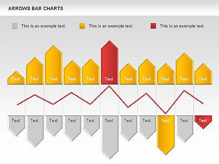 Arrows Bar Chart, Slide 3, 00941, Business Models — PoweredTemplate.com