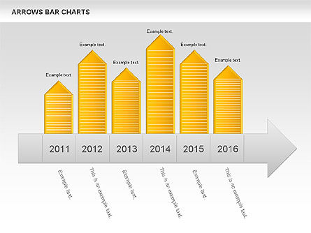 Arrows Bar Chart, Slide 4, 00941, Business Models — PoweredTemplate.com