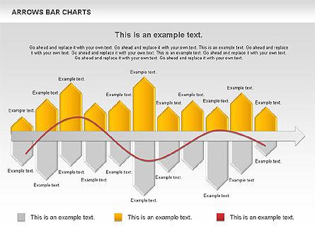 Arrows Bar Chart, Slide 5, 00941, Business Models — PoweredTemplate.com