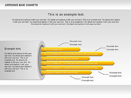 Arrows Bar Chart, Slide 6, 00941, Business Models — PoweredTemplate.com