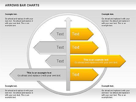 Arrows Bar Chart, Slide 7, 00941, Business Models — PoweredTemplate.com