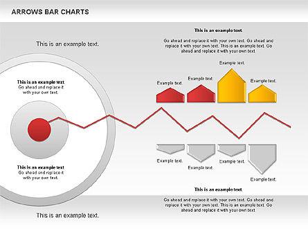 Arrows Bar Chart, Slide 9, 00941, Business Models — PoweredTemplate.com