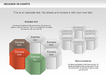 Hexagon 3D Chart, 00942, Business Models — PoweredTemplate.com