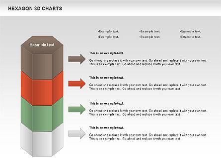 Hexagon 3D Chart, Slide 2, 00942, Business Models — PoweredTemplate.com