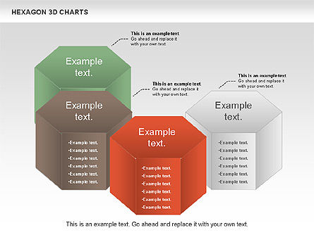 Hexagon 3D Chart, Slide 3, 00942, Business Models — PoweredTemplate.com