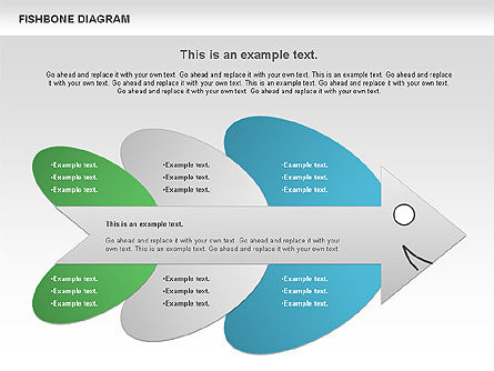 Business Models: Diagram Tulang Ikan Berwarna #00944