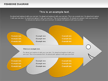 Colorful Fishbone Diagram, Slide 16, 00944, Business Models — PoweredTemplate.com