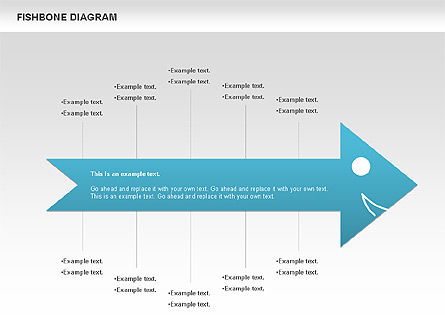 Colorful Fishbone Diagram, Slide 2, 00944, Business Models — PoweredTemplate.com