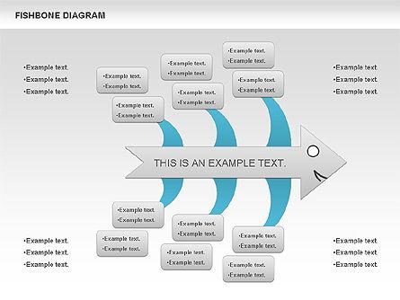 Colorful Fishbone Diagram, Slide 6, 00944, Business Models — PoweredTemplate.com