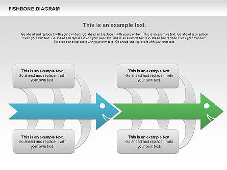 Colorful Fishbone Diagram, Slide 9, 00944, Business Models — PoweredTemplate.com