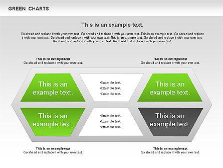 Process Green Chart, Slide 10, 00946, Shapes — PoweredTemplate.com