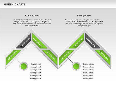 Process Green Chart, Slide 11, 00946, Shapes — PoweredTemplate.com