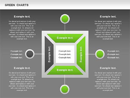 Process Green Chart, Slide 12, 00946, Shapes — PoweredTemplate.com