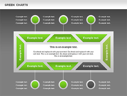 Process Green Chart, Slide 13, 00946, Shapes — PoweredTemplate.com